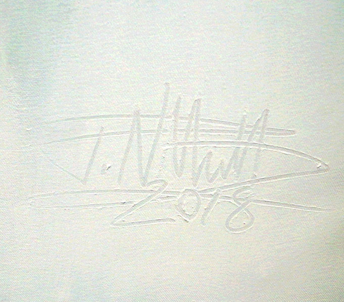 signature of the artist Peter Nottrott and year of creation: 2018