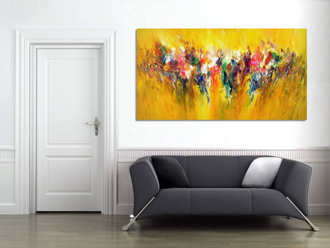 An abstract painting can really make an impact in any space