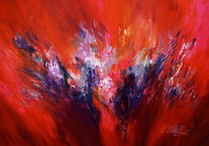 red abstract art