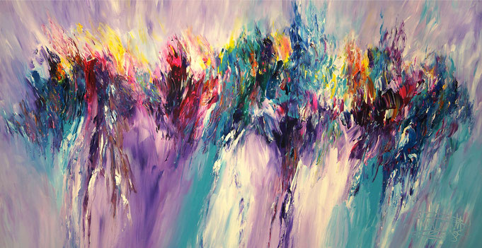 large abstract painting, earth color shades