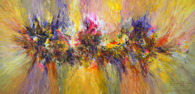 yellow painting, abstract