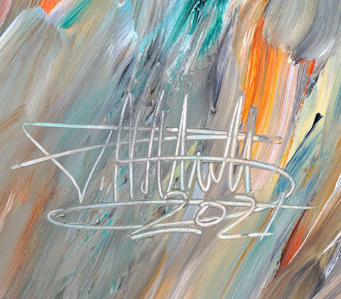 Signature of the artist Peter Nottrott and year of creation: 2021