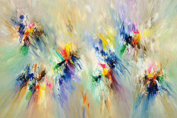 Abstract, modern painting.