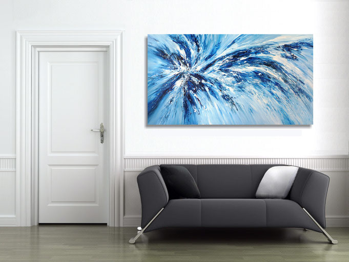An abstract Nottrott painting gives any space a very individual ambience