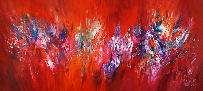 red - colorful painting