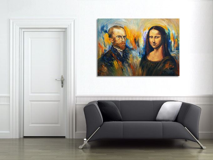 Vincent Meets Mona Lisa at the wall