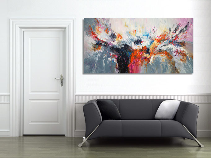 An original painting gives an unique atmosphere to the room