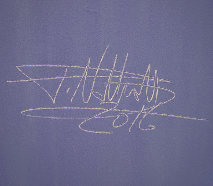 signature of the artist Peter Nottrott and year of creation: 2016