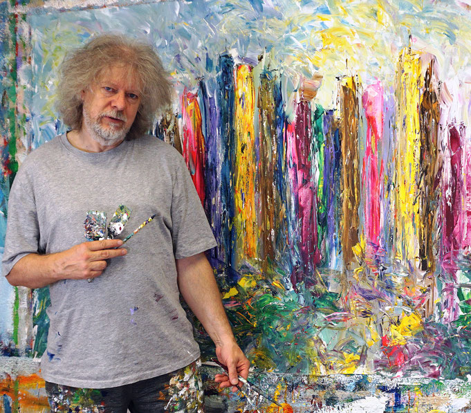 almost ready: Peter Nottrott with City Skyline XL 1