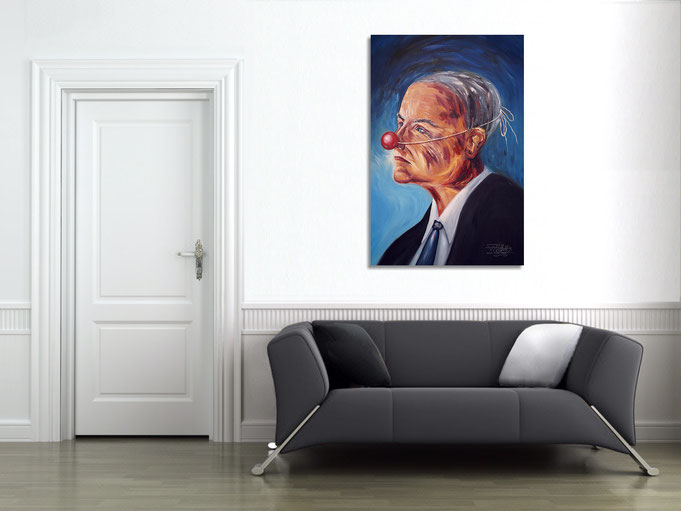 The painting exerts its effect on the wall