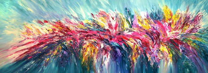 abstract original. red - colorful painting