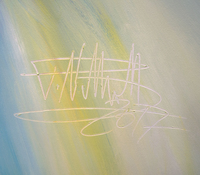 Signature of the artist Peter Nottrott and year of creation: 2017