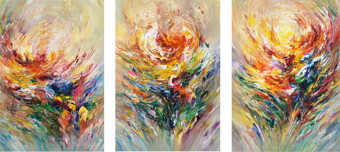 3 pieces canvas abstract