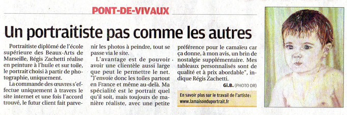 article du journal quotidien La Provence