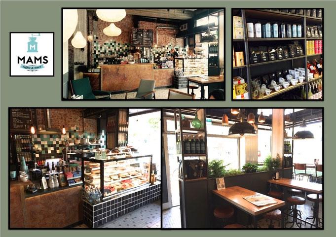 horeca interieurbouw; toonbank, bar, tafels en kasten, koffiehuis interieur