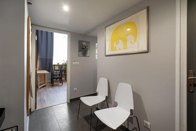 Salle d'attente Cabinet de Relaxologie à Fresnes