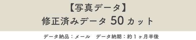 【写真データ】修正済みデータ50カット※データ納品:メール※データ納期:約一ヶ月半後