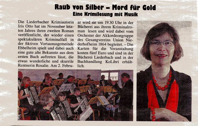 Kelkheimer Zeitung vom 11. Januar 2018