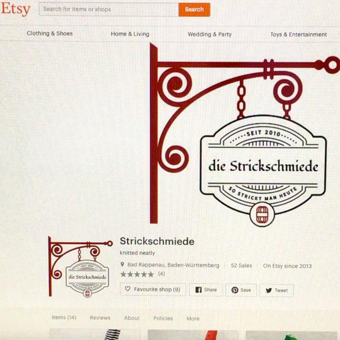 Etsy-Shop Strickschmiede, Etsy