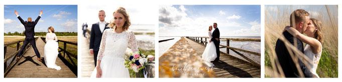 Hochzeit in Nordfriesland, Heirat, Hochzeitsfotografin, beachtenswert, Hochzeit am Meer. Schobüll, Steg, Brautfotos, Fotograf für Hochzeit