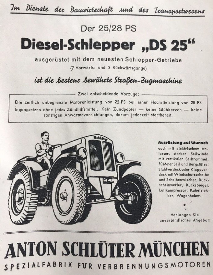 Schlüter Prospekt 1950