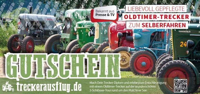 Treckerausflug Erlebnis Geschenkgutschein  - Traktorausflug als Geschenk