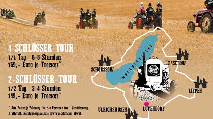 Touren mit dem Oldtimer Traktor
