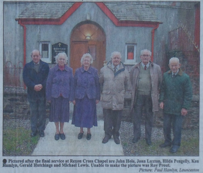 Photograph included in newspaper report of final service in 2013