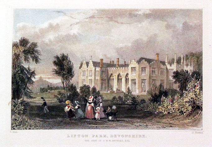 Castle Park, Lifton (later known as Lifton Park), the home of William Harris Arundel and later Henry Blagrove/Bradshaw