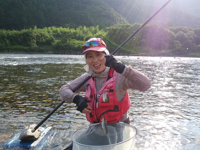女性友釣り師
