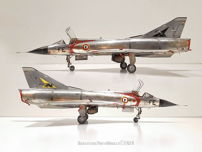 "MWP Project : Dassault Aviation Mirage IIIc - Italeri kit 1/32 scale model - version: SPA 94 ""Mort qui fauche"" CT02/ 002 côte d'or Dijon-Longvic 1970"