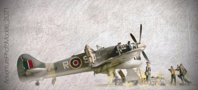 Hawker Tempest MkV - Eduard kit 1/48 scale model (Limited Edition) - full aluminum coated (MWP)