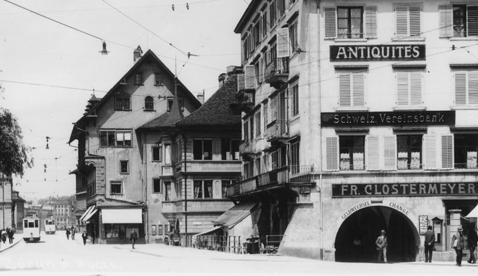 Die Papeterie Clostermeyer um 1920 am Rathausquai 6