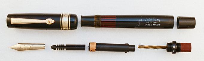 Klassischer Kolbenfüller der bei ASKA in unterschiedlichen Grössen hergestellt wurde