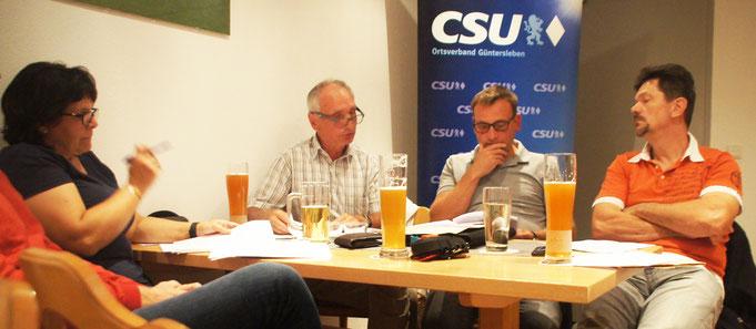 Gemeinderätin/e Erika Hart, Willi Öffner, Michael Freudenberger und Johannes Öhrlein