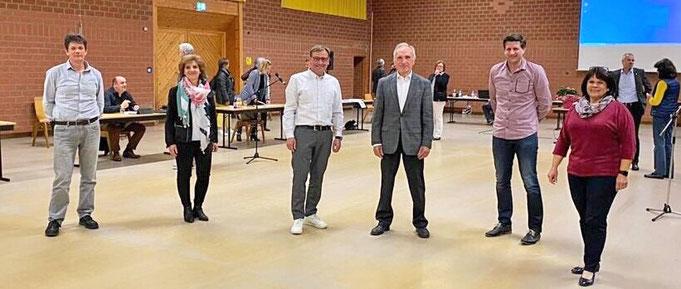 v. l. n. r.: Johannes Öhrlein, Ira Wolz, Michael Freudenberger, Willi Öffner, Ronny Lamprecht und Erika Hart