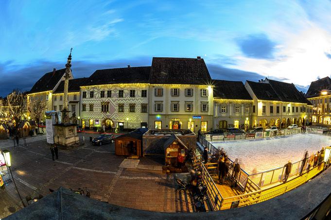 Adventmarkt und Eislaufplatz Bad Radkersburg, Foto: Robert Sommerauer - pixelmaker.at