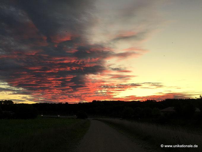 Wolken, vom Sonnenaufgang beleuchtet (2)