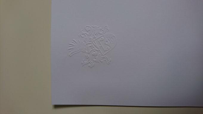 Prägezange für Papierprägung, geprägtes Briefpapier
