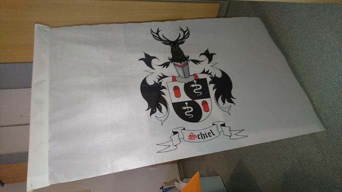 Fahne mit Familienwappen, Wappen, Wappenfahne
