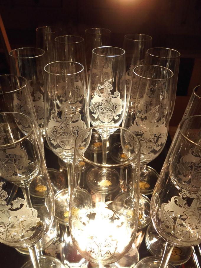 Sektglas mit Gravur, Gläser gravieren lassen