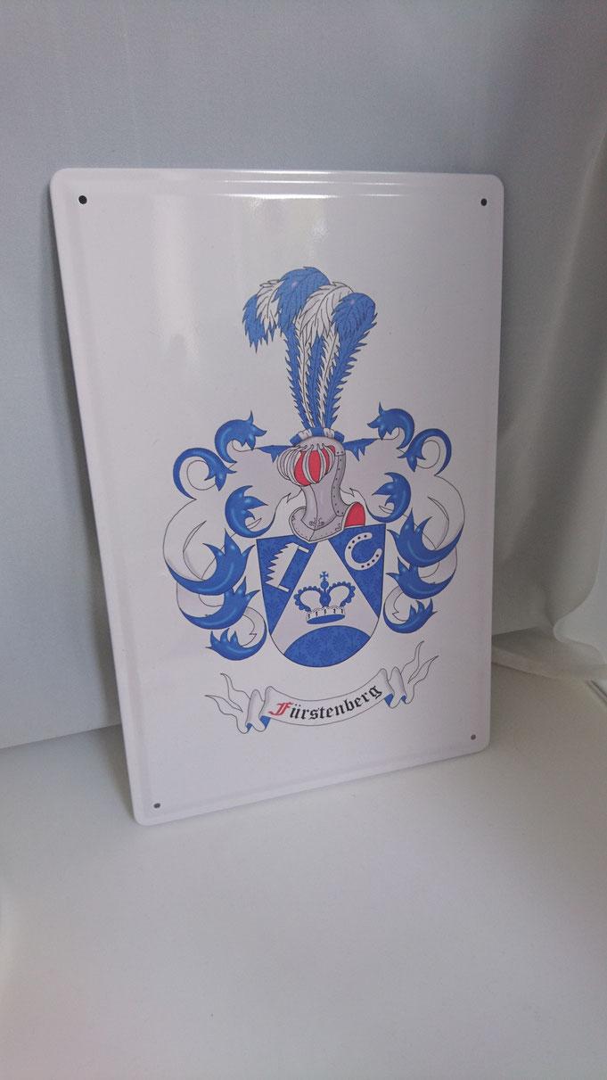 Blechschild bedruckt mit Wappen
