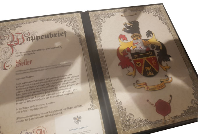 Wappenregistrierung, Eintragung in Wappenrolle