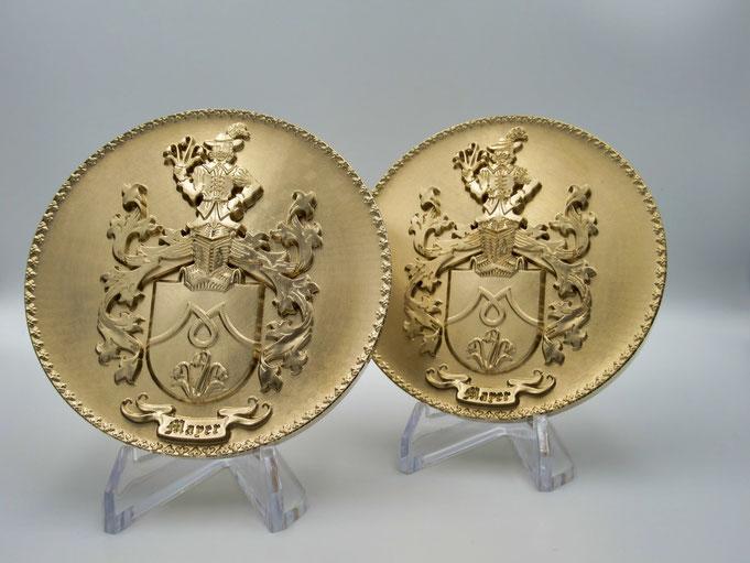 Familienwappen, Wappen in Bronze