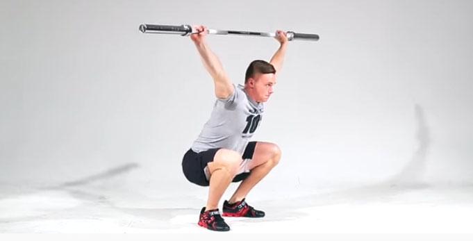 OHS Over Head Squat (Flexion d'Arraché)