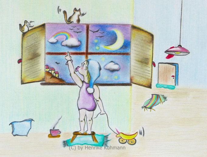 Zeichnung über Märchen