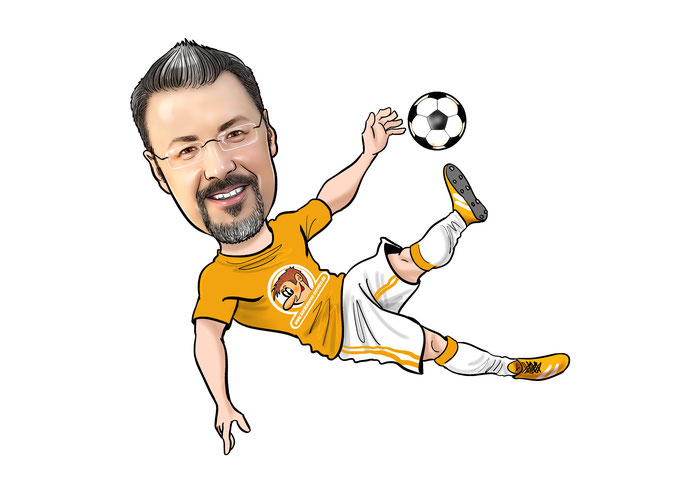Karikatur Fussball  EM 2020