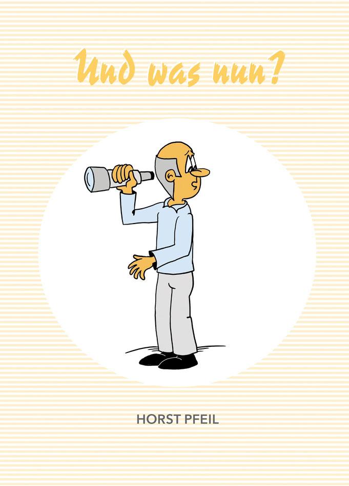 Grafische Gestaltung von einem Buchcover mit Karikatur