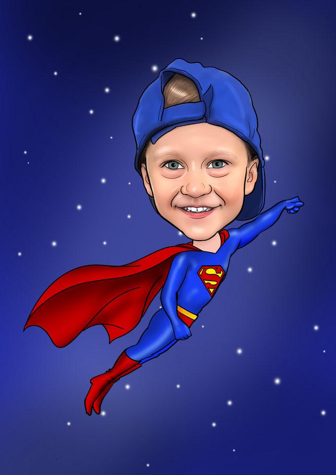 Karikatur vom Foto, Superman