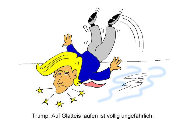 Trump Corona Karikatur